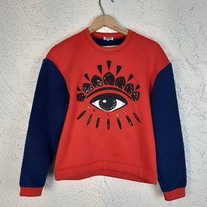 Kenzo Fleece Embroidered Eye Sweatshirt
